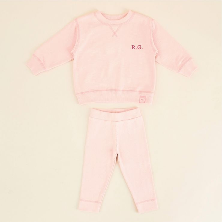 Personalized Pink Jersey Outfit Set