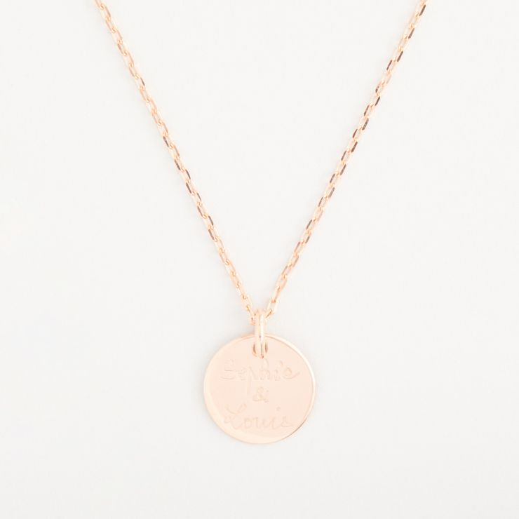 Personalised Merci Maman 18k Rose Gold Plated Message Necklace
