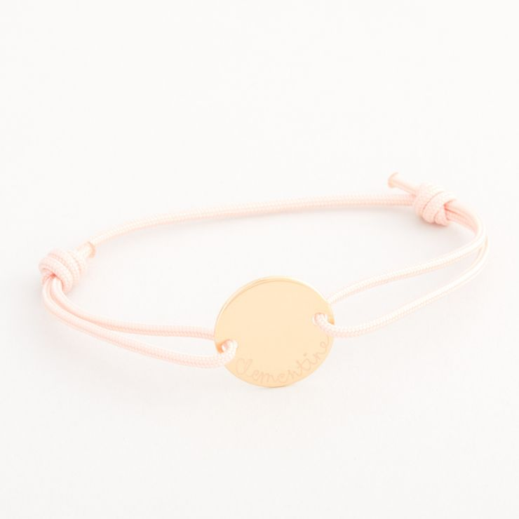 Personalised Merci Maman Children's Gold Pastille Bracelet