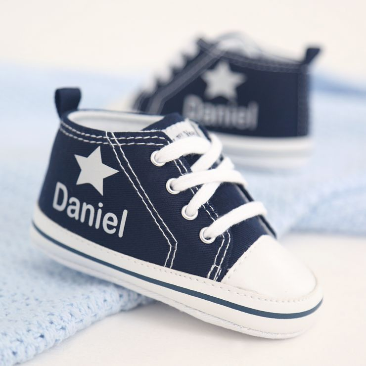 Personalized Silver Star High Tops
