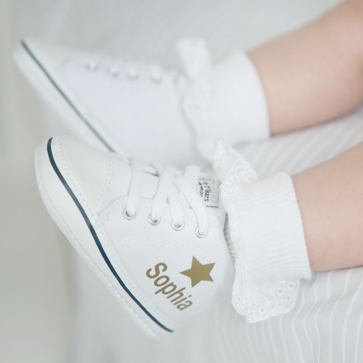 Personalised Gold Star High Tops