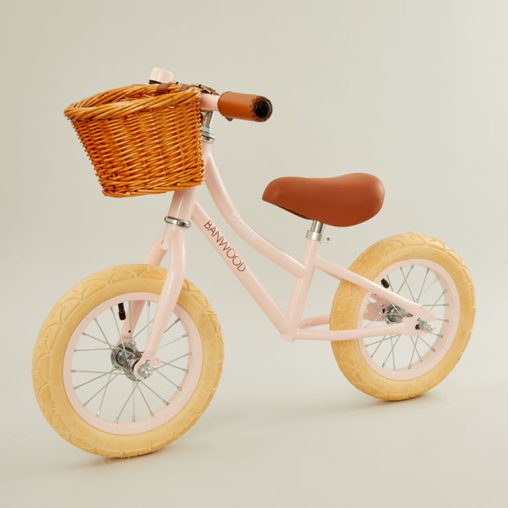 Personalised Banwood First Go Balance Bike in Pink