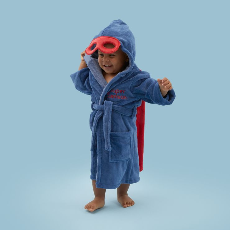 Personalised Super Hero Robe with Mask Model