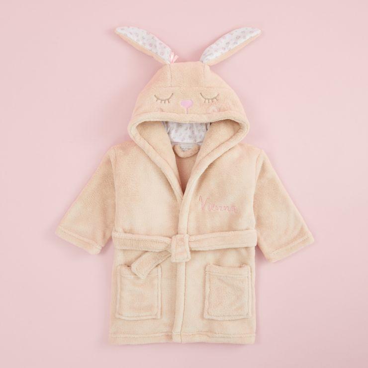Personalised Bunny Robe Flat