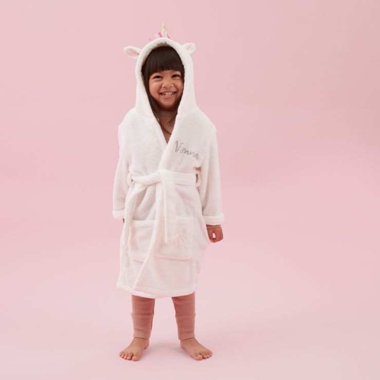Personalized Unicorn Robe Model 1