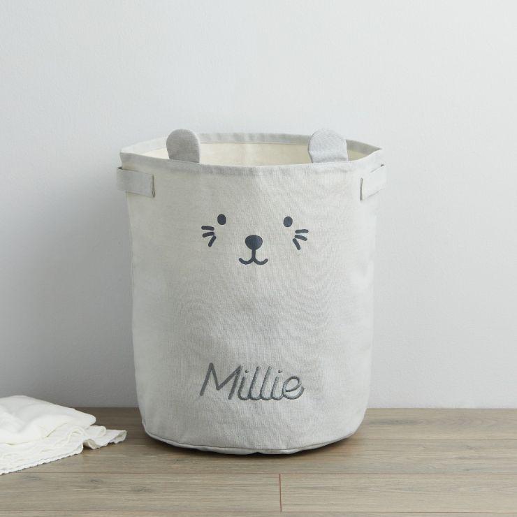 Personalised Grey Mouse Storage Bag