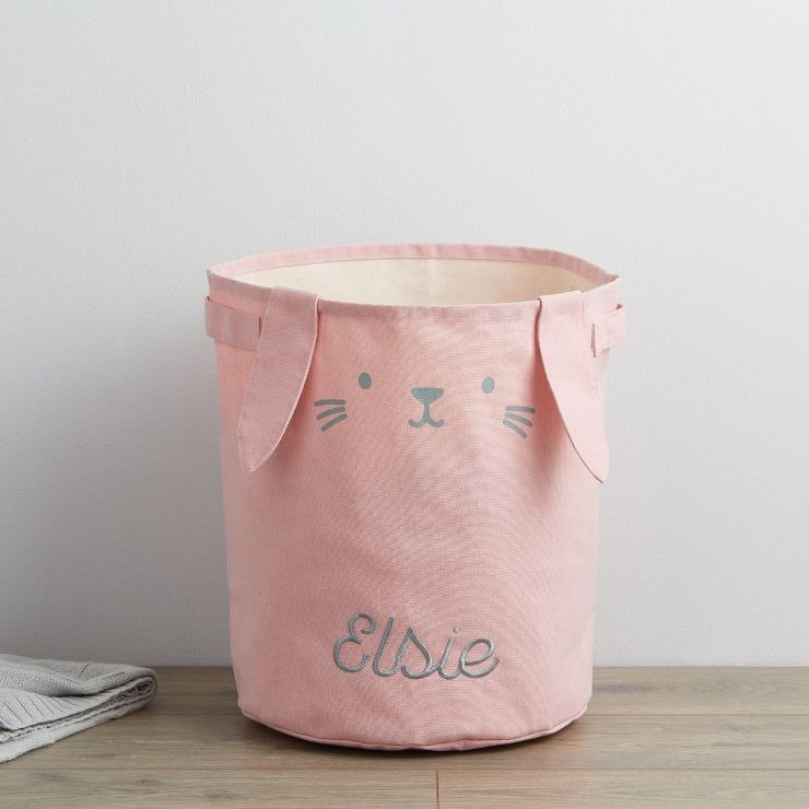 Personalized Pink Bunny Storage Bag