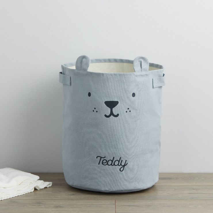 Personalized Blue Bear Storage Bag