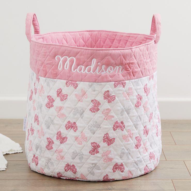 Personalised Butterfly Print Storage Bag