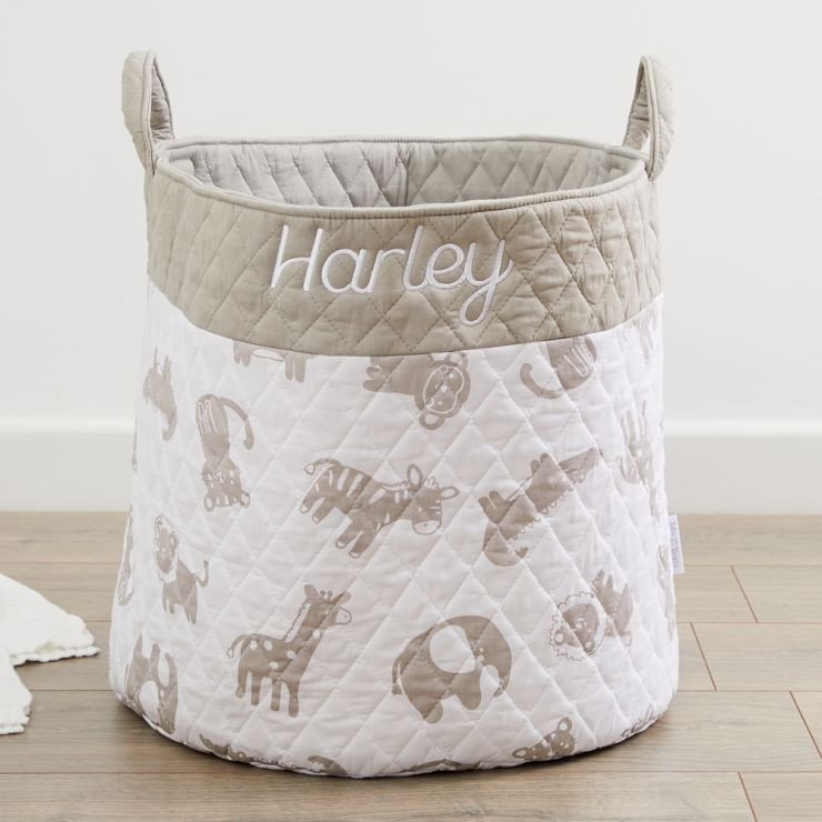 Personalized Jungle Print Storage Bag