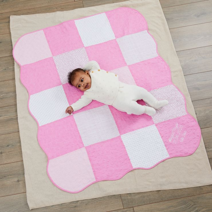 Personalized Pink Patchwork Quilt Model