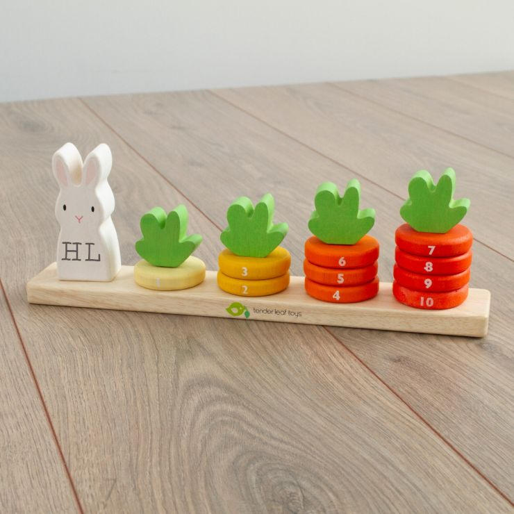 Personalised Tenderleaf Wooden Bunny Counter Stacker