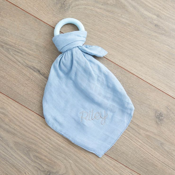 Personalized Blue Bamboo Lovey