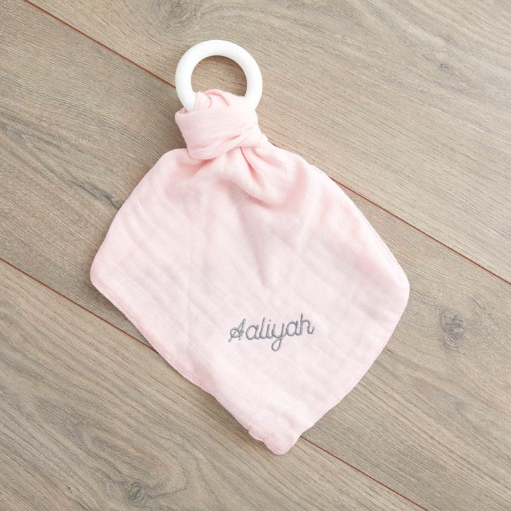 Personalized Pink Bamboo Lovey