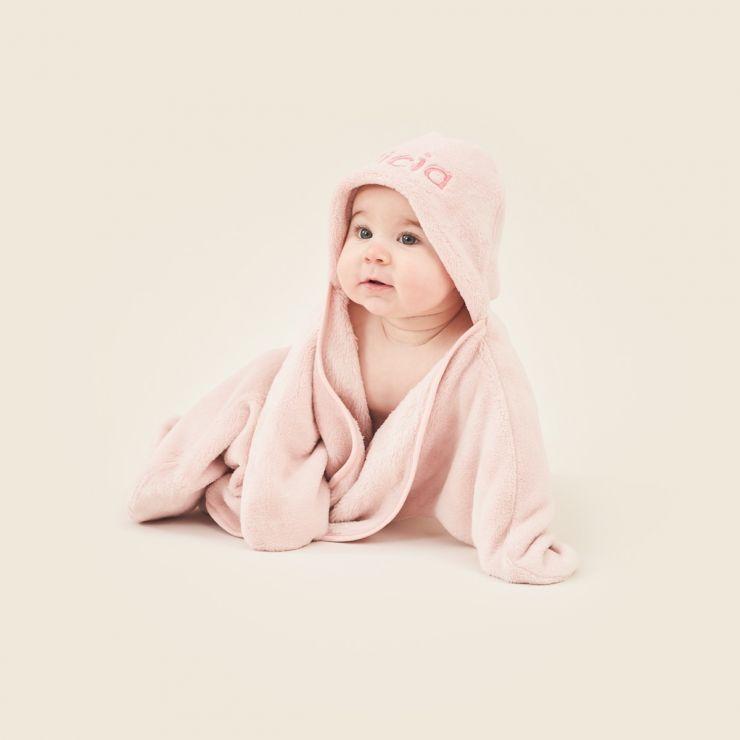 Personalised Pink Star Hooded Fleece Wrap