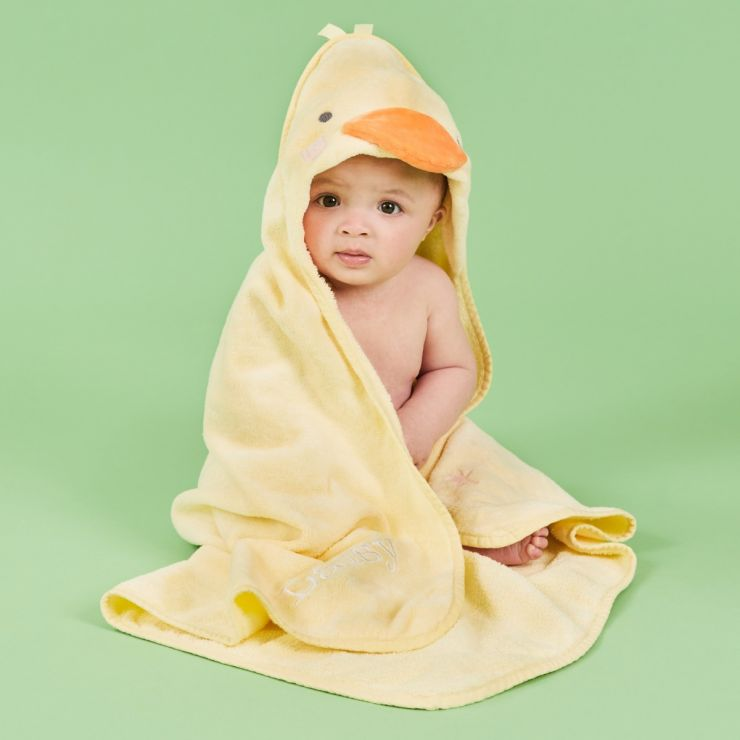 Personalized Yellow Little Duckling Hooded Towel