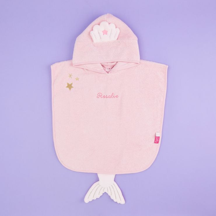 Personalised Mermaid Towelling Poncho
