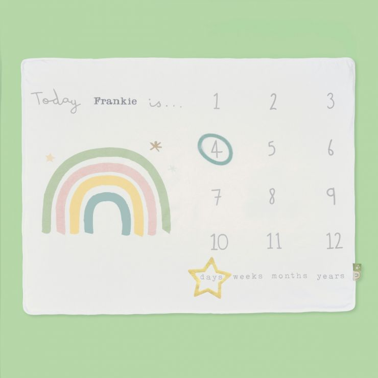 Personalized Rainbow Milestone Blanket