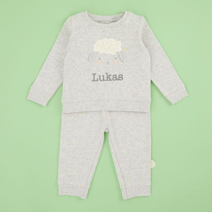 Personalised Little Lamb Pyjama Set