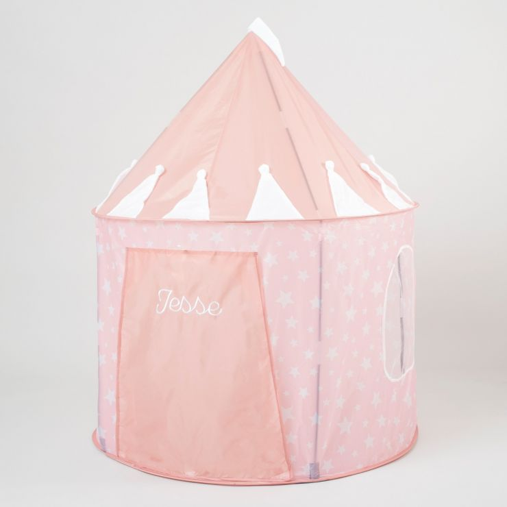 Personalised Pink Star Play Tent