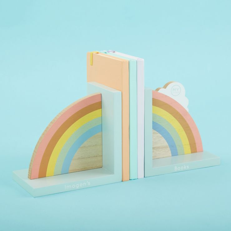 Personalised Rainbow Bookends
