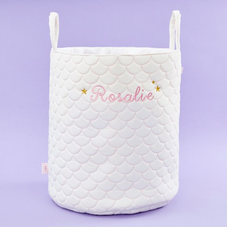 Personalized Quilted Mermaid Tail Storage Bag