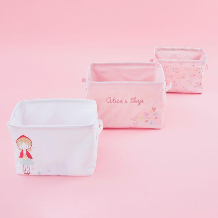 Personalised Fairy Tale Nesting Storage Baskets