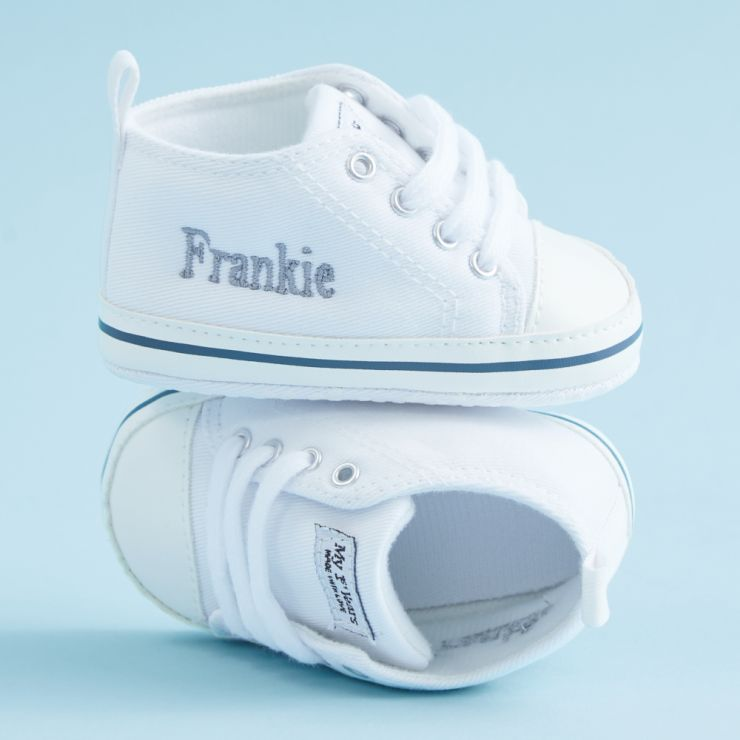 Personalized White High Tops Sneakers