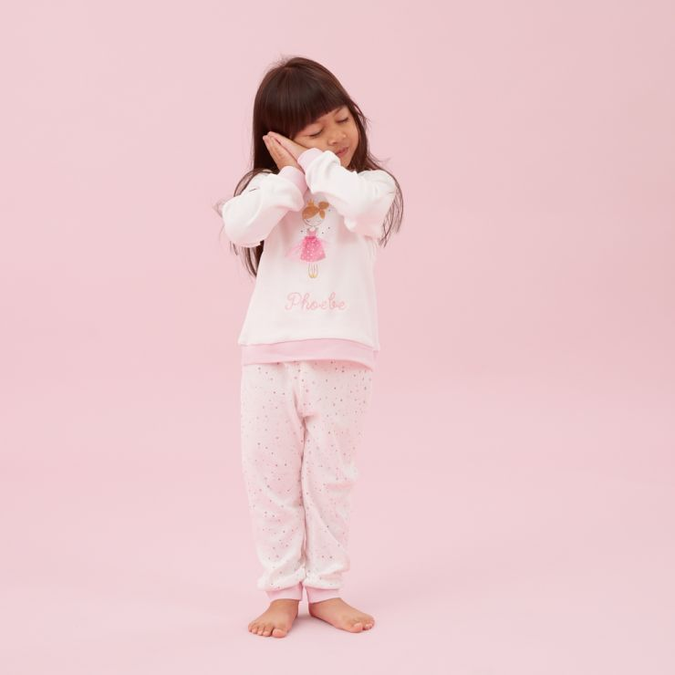 Personalised Pink Princess Pyjama Set Model