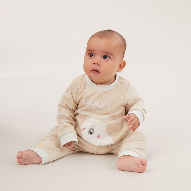 Personalized 'My 1st Christmas' Pajama Set Model