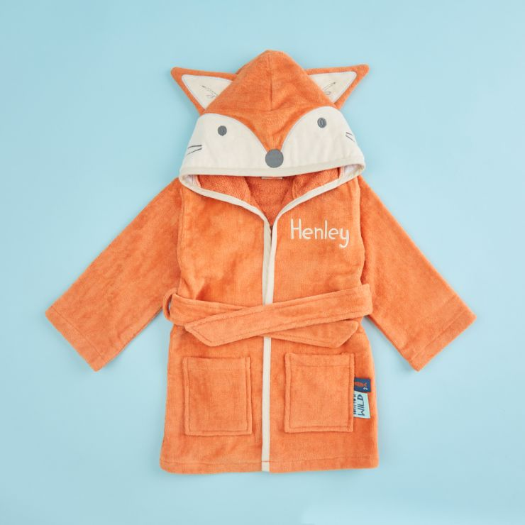 Personalised Fox Towelling Robe
