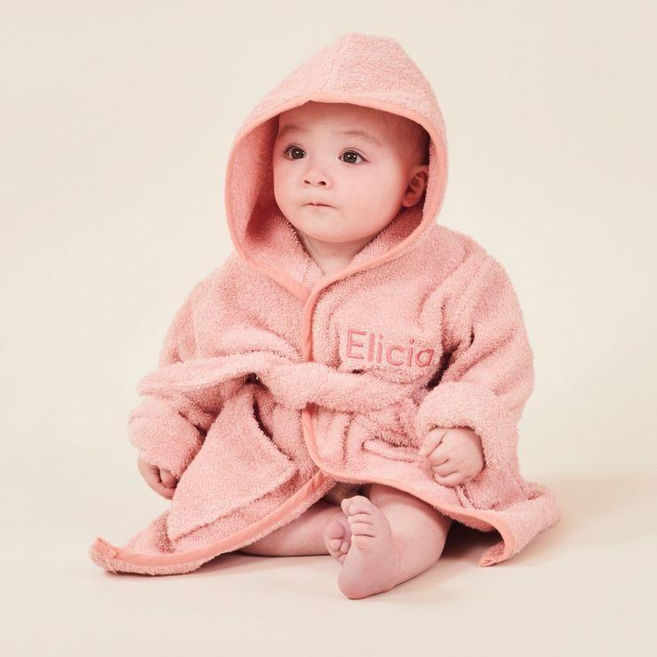 Personalised Pink Hooded Towelling Robe