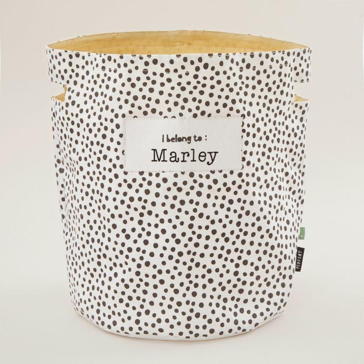 Personalised Mini Mono Polka Dot Storage Bag