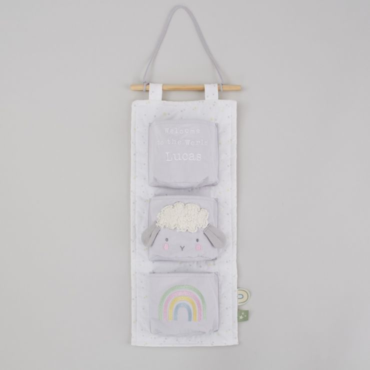 Personalized 3 Pocket Cot Storage