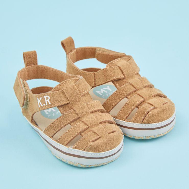 Personalised Beige Fisherman Sandals