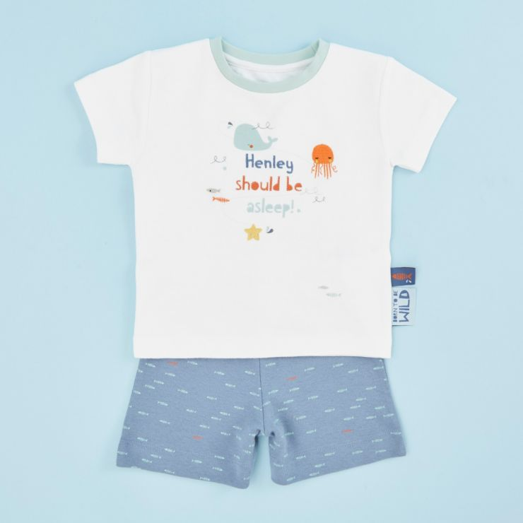 Personalised Children's Sea Life Friends Short Pyjamas Set