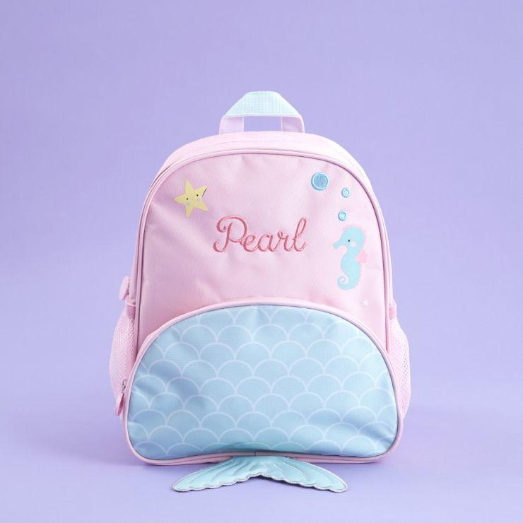 Personalised Mermaid Design Medium Backpack