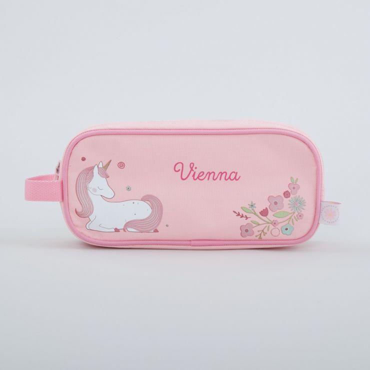 Personalized Pink Unicorn Pencil Case