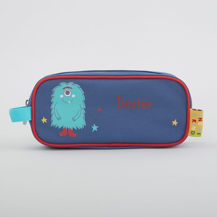 Personalised Blue Monster Pencil Case