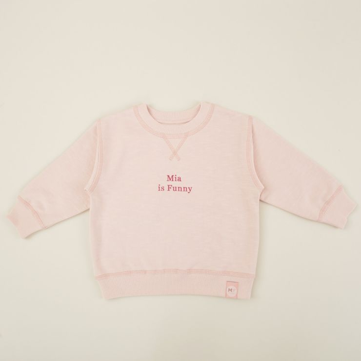 Personalized Pink Slogan Sweatshirt