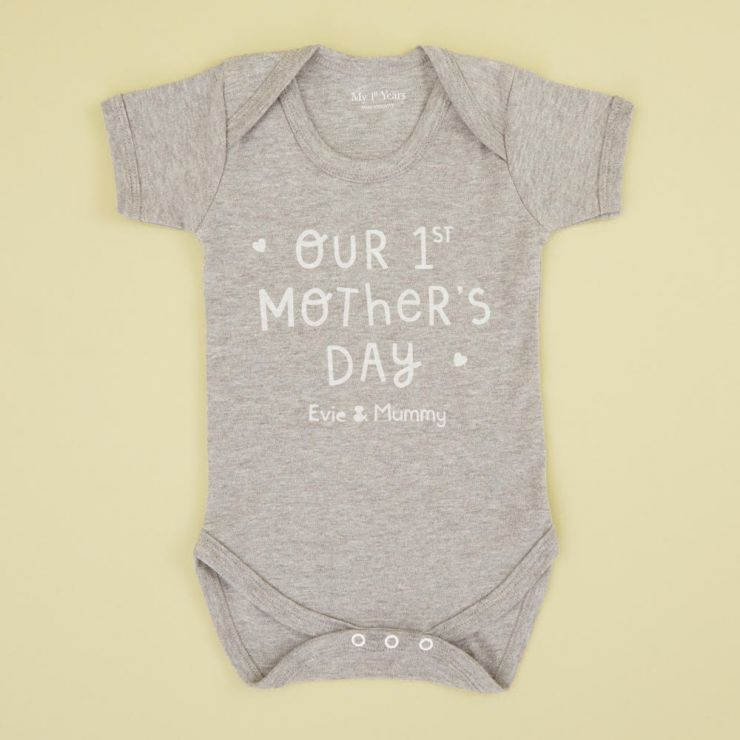 Personalised 'Our 1st Mother's Day' Bodysuit