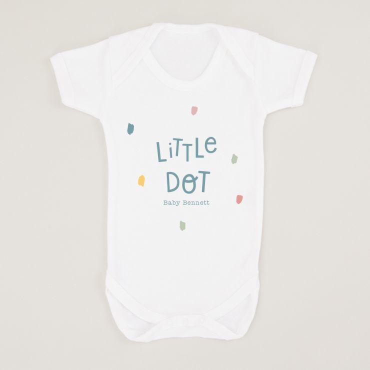 Personalised White Little Dot Design Bodysuit