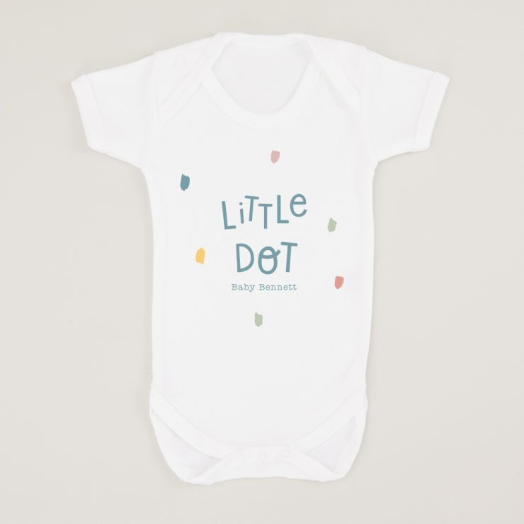 Personalized White Little Dot Design Bodysuit