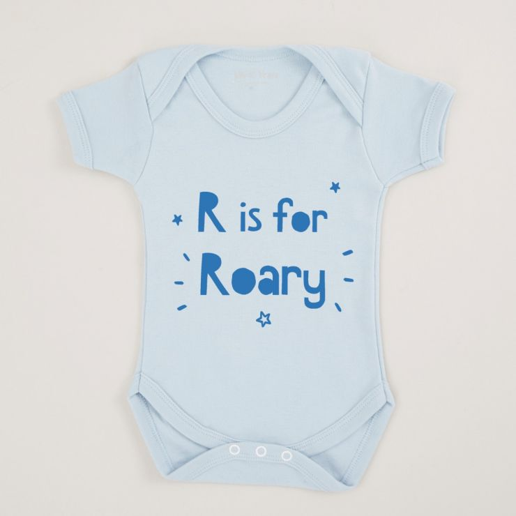 Personalised Blue Letter' Is A 'Name' Bodysuit