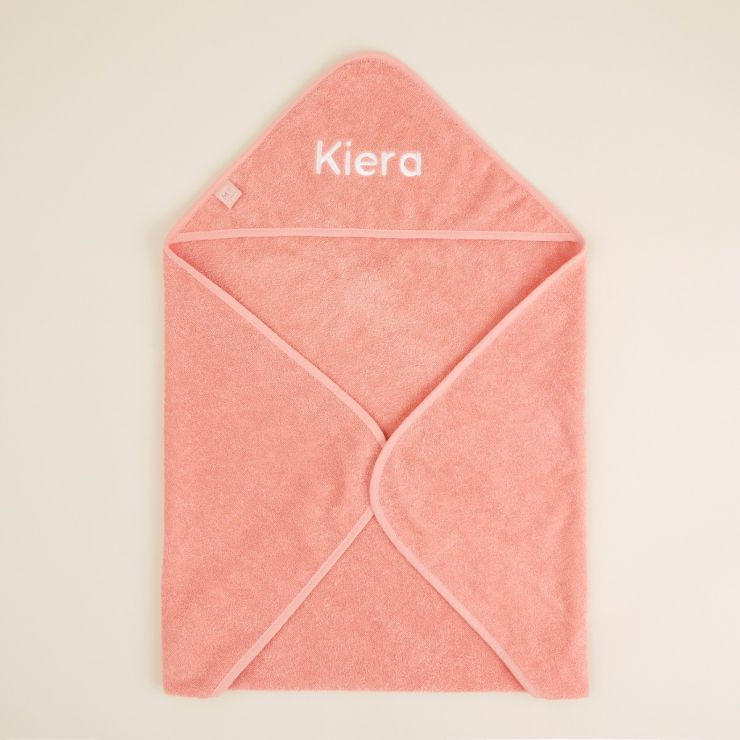 Personalised Small Coral Hooded Towel