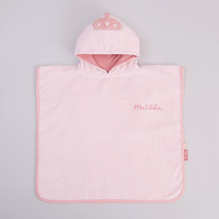 Personalised Fairy Princess Towelling Poncho
