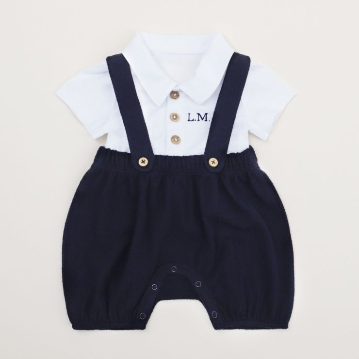 Personalised Navy Romper Outfit Set