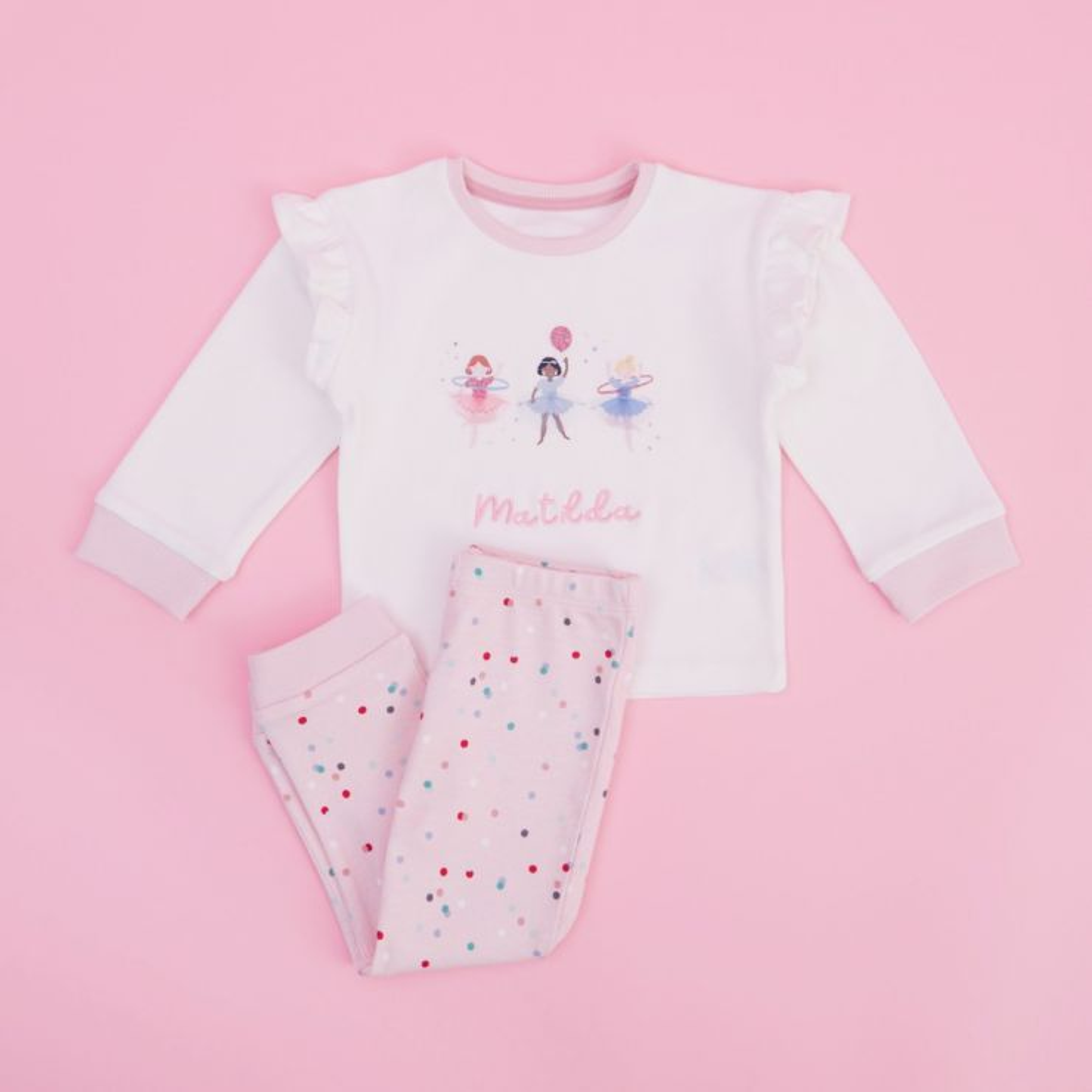 Personalised Little Performers Jersey Pyjama Set