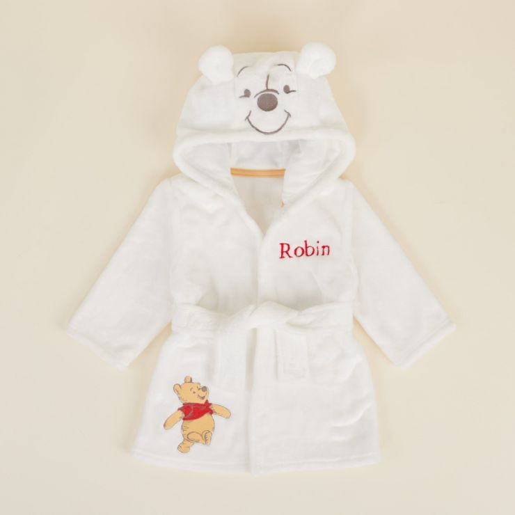 Personalised Winnie The Pooh Fleece Dressing Gown