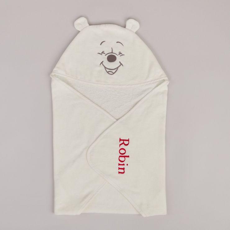 Personalised Winnie The Pooh Hooded Towel